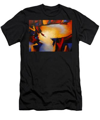 Abstract Red Blue Yellow Men's T-Shirt (Athletic Fit)