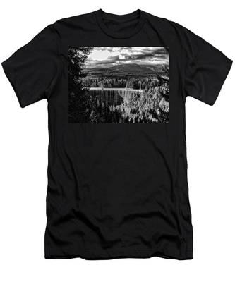 Alder Dam Near Mt Rainer Wa Men's T-Shirt (Athletic Fit)