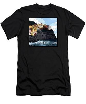 Manarola W/hidden Pictures Men's T-Shirt (Athletic Fit)