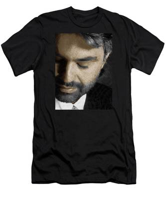 Andrea Bocelli And Vertical Men's T-Shirt (Athletic Fit)
