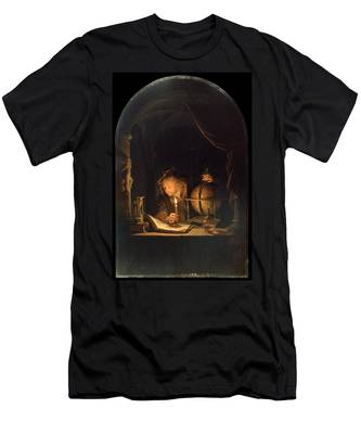 Astronomer By Candlelight Men's T-Shirt (Athletic Fit)