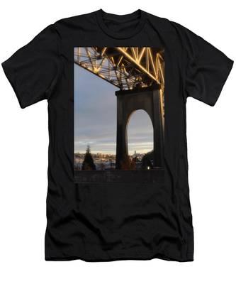 Aurora Bridge Seattle Washington  Men's T-Shirt (Athletic Fit)