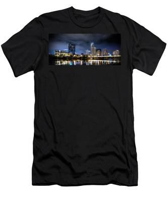 Austin Skyline Hdr Men's T-Shirt (Athletic Fit)