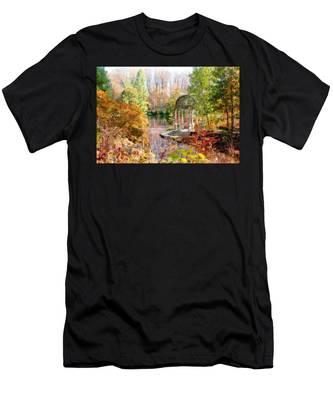 Autumn In Longwood Gardens Men's T-Shirt (Athletic Fit)