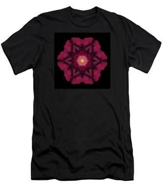 Beach Rose I Flower Mandala Men's T-Shirt (Athletic Fit)