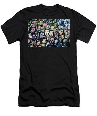Berlin Wall Graffiti  Men's T-Shirt (Athletic Fit)