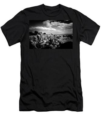 Black Rocks 3 Men's T-Shirt (Athletic Fit) by Joseph Amaral