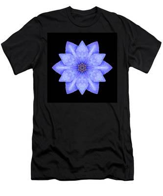 Blue Clematis Flower Mandala Men's T-Shirt (Athletic Fit)