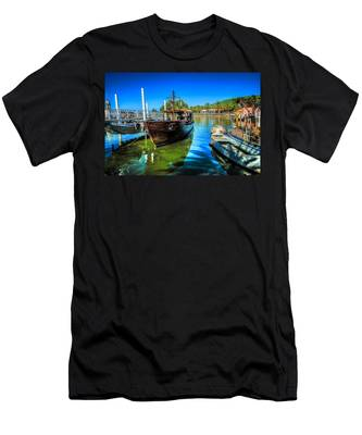 Boats At Kibbutz On Sea Galilee Men's T-Shirt (Athletic Fit)