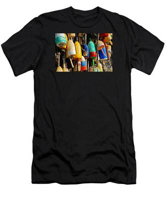 Buoys From Russell's Lobsters Men's T-Shirt (Athletic Fit)