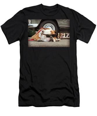 Carmel Cool Dog Men's T-Shirt (Athletic Fit)