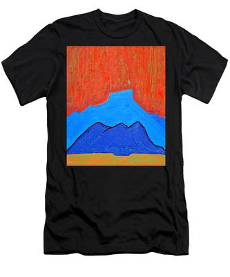 Cerro Pedernal Original Painting Sold Men's T-Shirt (Athletic Fit)