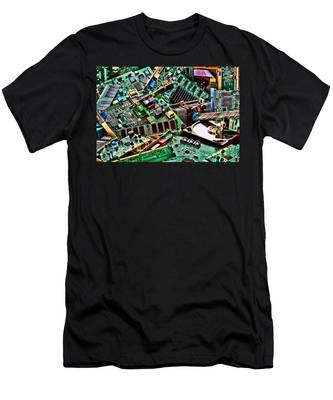Computer Parts Men's T-Shirt (Athletic Fit)