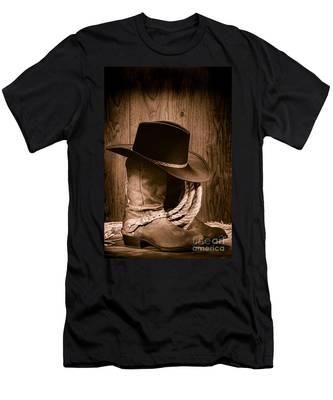 Cowboy Hat And Boots Men's T-Shirt (Athletic Fit)