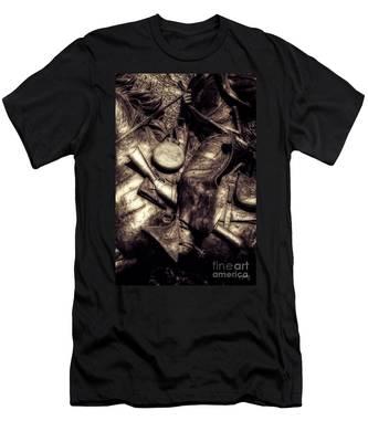 Cowboy In Bronze Men's T-Shirt (Athletic Fit)