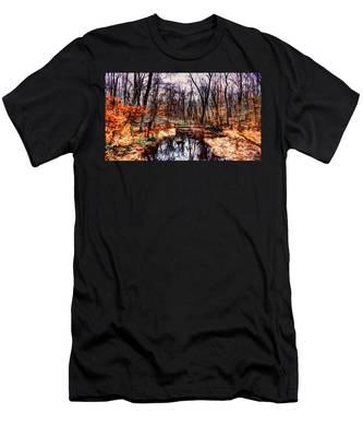 Creek At Pyramid Mountain Men's T-Shirt (Athletic Fit)