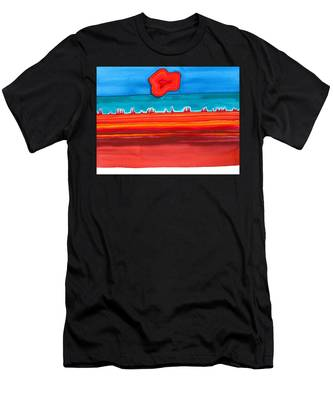 Desert Cities Original Painting Sold Men's T-Shirt (Athletic Fit)