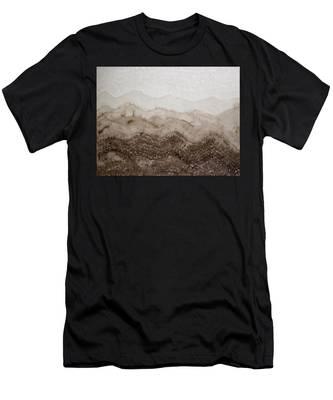 Desert Mountain Mist Original Painting Men's T-Shirt (Athletic Fit)