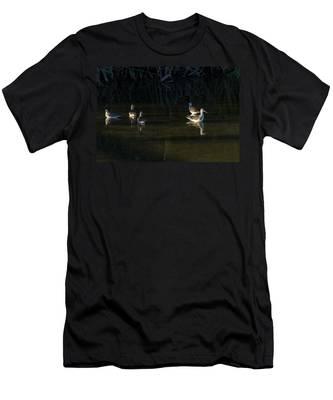 Digital Oil Of Sandpipers Men's T-Shirt (Athletic Fit)