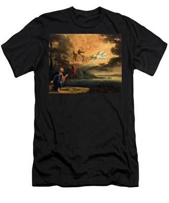 Elijah Taken Up Into Heaven In The Chariot Of Fire Men's T-Shirt (Athletic Fit)