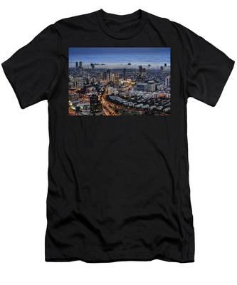 Evening City Lights Men's T-Shirt (Athletic Fit)