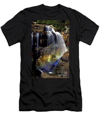 Falls And Rainbow Men's T-Shirt (Athletic Fit)