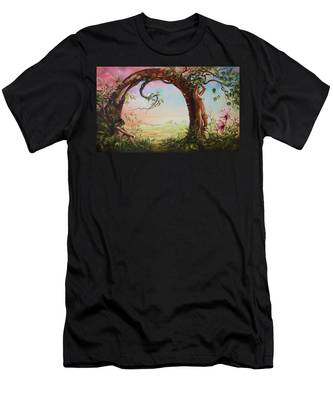 Gate Of Illusion Men's T-Shirt (Athletic Fit)