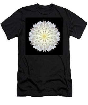 Giant White Dahlia Flower Mandala Men's T-Shirt (Athletic Fit)
