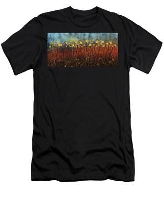 Golden Flowers Men's T-Shirt (Athletic Fit)
