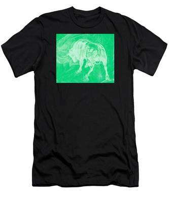 Green Bull Negative Men's T-Shirt (Athletic Fit)