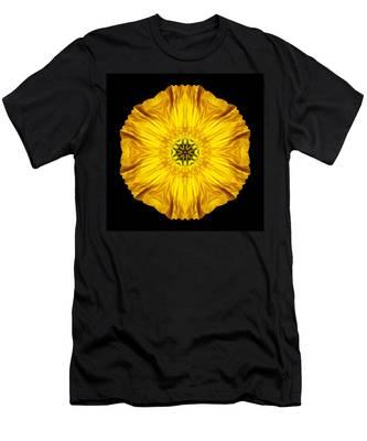 Iceland Poppy Flower Mandala Men's T-Shirt (Athletic Fit)