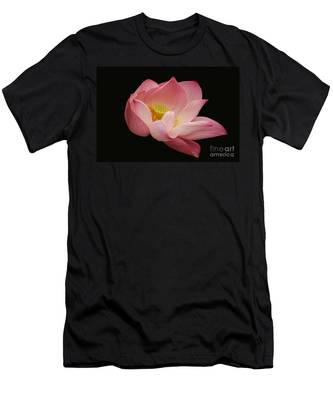 Indian Lotus On Black --- Sacred Light Men's T-Shirt (Athletic Fit)