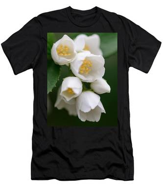 Men's T-Shirt (Athletic Fit) featuring the photograph Jasmin Flowers by Michael Goyberg