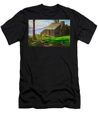 Lunch At An Old Cabin In The Blue Ridge Men's T-Shirt (Athletic Fit)