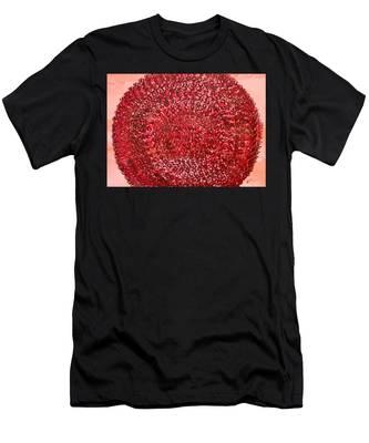 Mandala Sun Original Painting Men's T-Shirt (Athletic Fit)