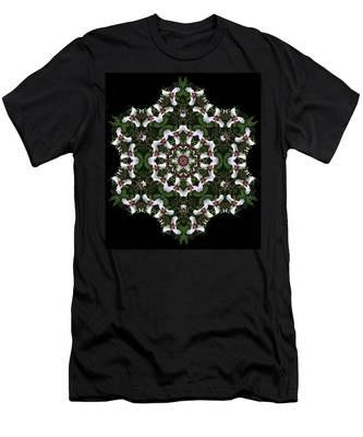 Mandala Trillium Holiday Men's T-Shirt (Athletic Fit)