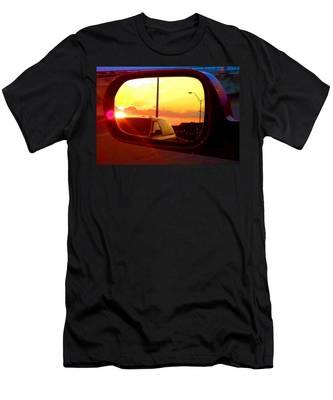 Mirror Sunset Men's T-Shirt (Athletic Fit)
