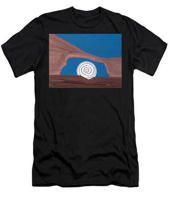 Moonscape Original Painting Men's T-Shirt (Athletic Fit)