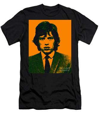 Mugshot Mick Jagger P0 Men's T-Shirt (Athletic Fit)
