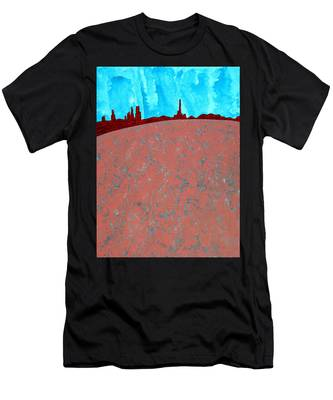 Needles And Dunes Original Painting Men's T-Shirt (Athletic Fit)