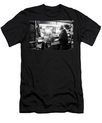New York City Street Vendor Men's T-Shirt (Athletic Fit)