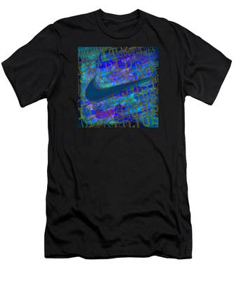 Nike Just Did It Blue Men's T-Shirt (Athletic Fit)