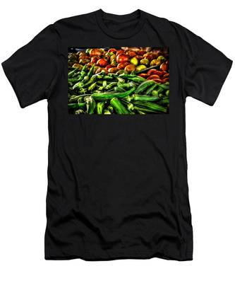 Okra And Tomatoes Men's T-Shirt (Athletic Fit)