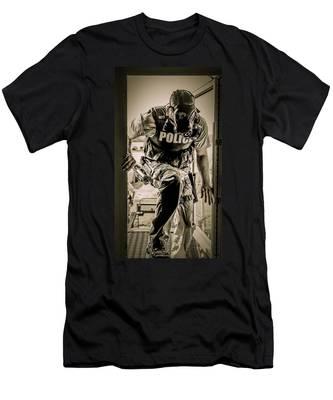 Patriot3 Second Floor Entry Men's T-Shirt (Athletic Fit)