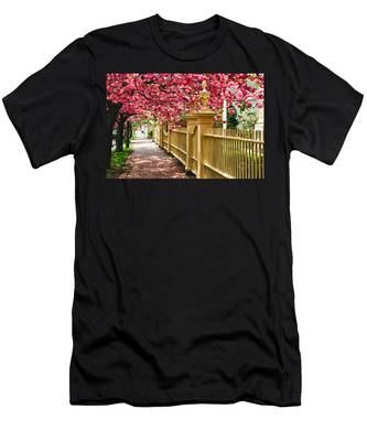 Men's T-Shirt (Athletic Fit) featuring the photograph Perfect Time For A Spring Walk by Jeff Folger