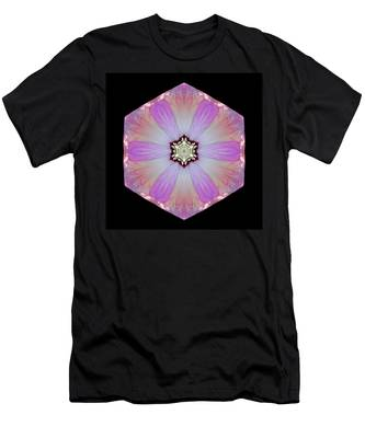 Pink And White Hibiscus Moscheutos I Flower Mandala Men's T-Shirt (Athletic Fit)