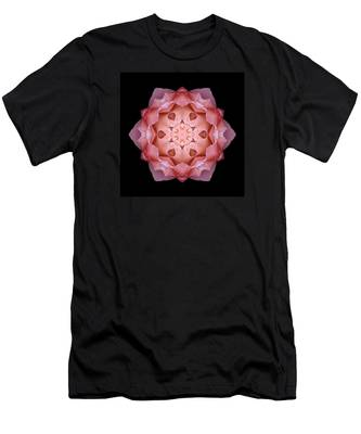 Pink Fall Rose Flower Mandala Men's T-Shirt (Athletic Fit)