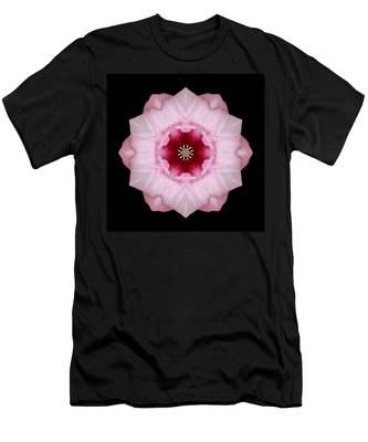 Pink Hibiscus I Flower Mandala Men's T-Shirt (Athletic Fit)