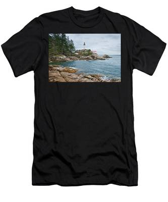 Point Atkinson Lighthouse And Rocky Shore Men's T-Shirt (Athletic Fit)