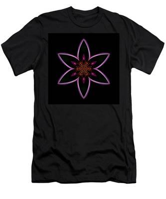 Purple Echinacea Flower Mandala Men's T-Shirt (Athletic Fit)